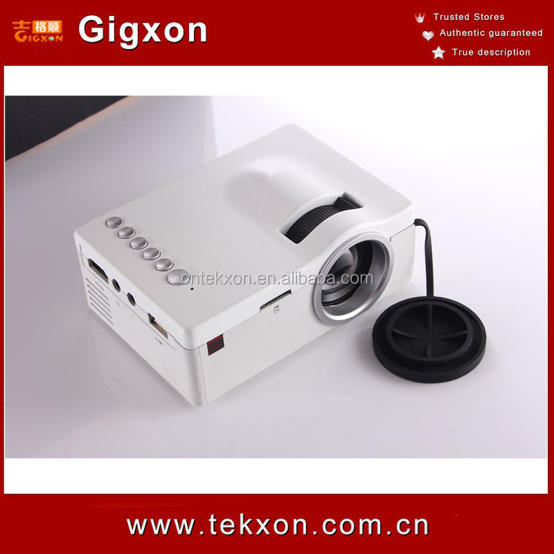 Gigxon - G18 Newest Exclusive design panel Mini Projector with HDMI TF Card USB CVBS LED proyector for Home theater Cinema Pico