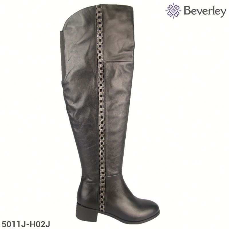 Latest Winter Design Genuine Leather Over The Knee High Boots