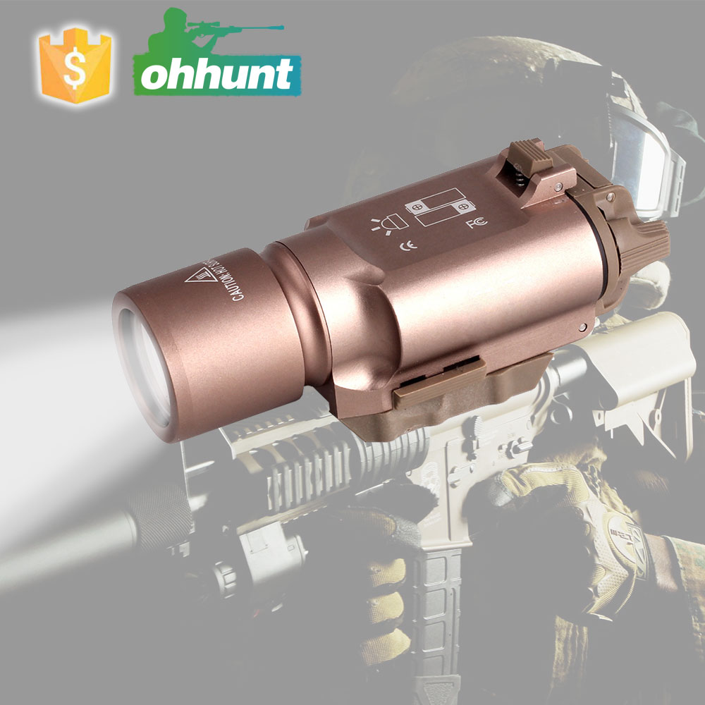 High Power White Light 500 lumens Tactical LED Pistol Rifle Flashlight For Hunting Shooting