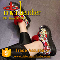 fancy flower pu leather for shoes