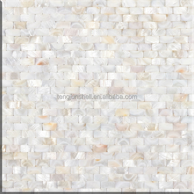 shell brick pattern mother of pearl shell white moroccan mosaic tile