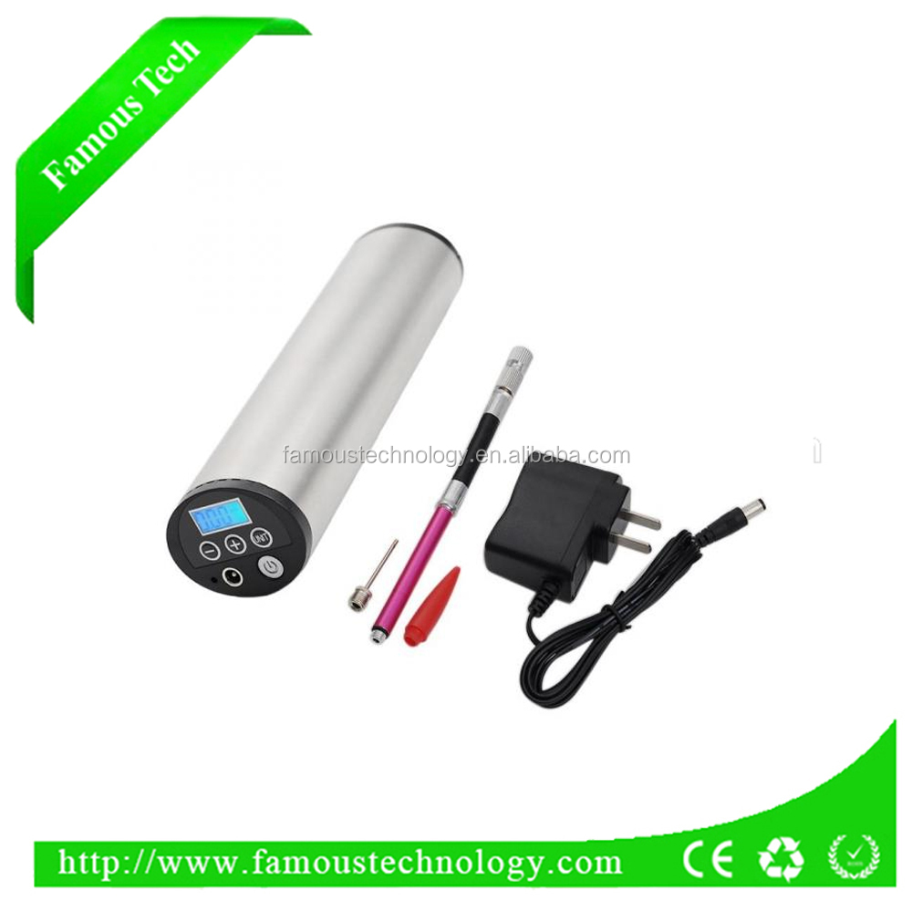 2017 mini electric auto best mountain bike pump with gauge