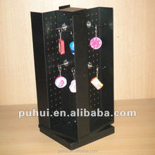 metal pegboard shop promotion spinning counter keychain display rack