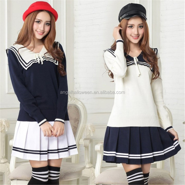 Design High Quality International Japan Sexy School Girl Costume Sex Uniform AGC4199