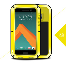 2016 ORIGINAL Love Mei Powerful SHOCkproof Waterproof Rugged Metal glass cover case +GORILLA GLASS for HTC 10