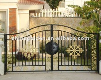 SG-15G001 Elegant top selling hand-forged wrought iron garden gate
