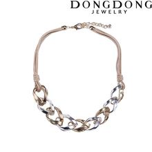 DD-DL155 Fashion fabric chain hollowed gold silver plated rings necklace women