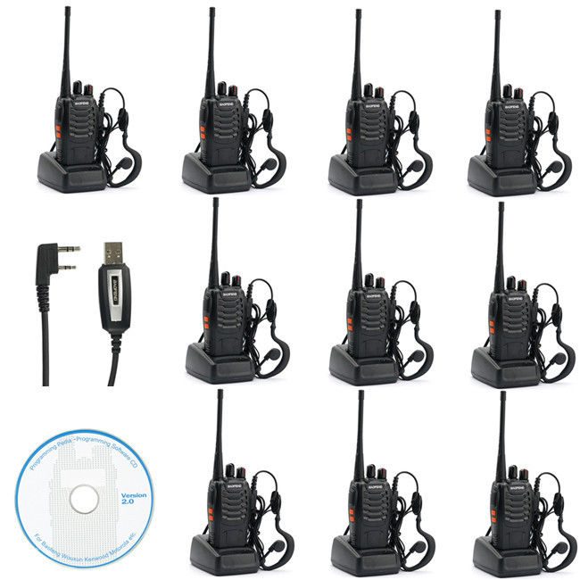 888S Walkie Talkie 5W UHF 400-470MHZ Handheld Portable Radio Two Way Radio
