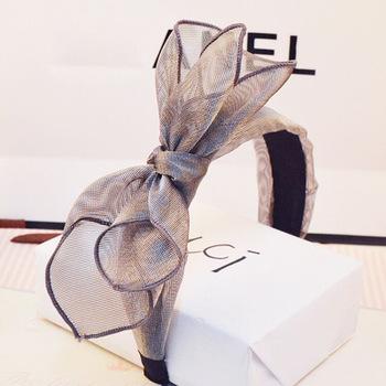 Hairpin bow fabric handmade wide-brimmed headband headband retro hair  accessories tiara head buckle hairpin 9897cfcf0613