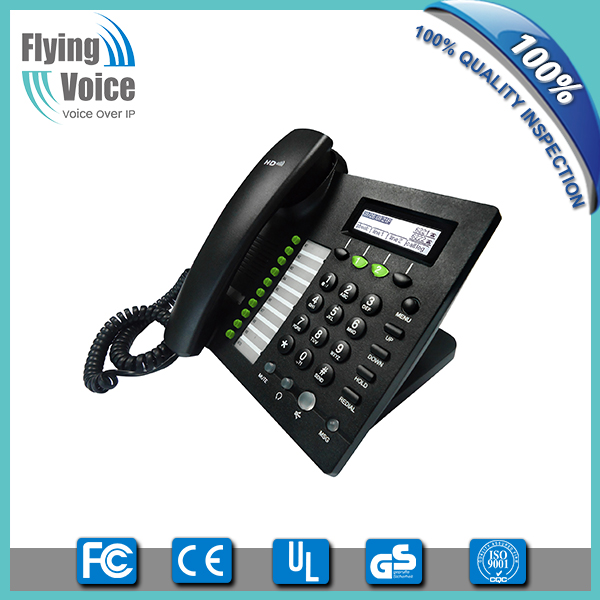 2016 new style! Flyingvoice own brand products wired VoIP digital business phone, POE & WiFi optional IP622C, OEM welcome!
