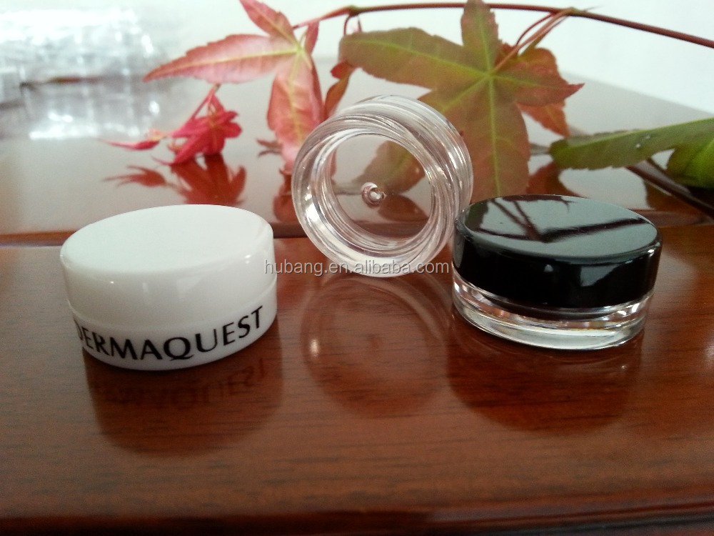Hot sale round 10 ml PS plastic customized skin care empty cream jars/ empty cosmetic containers/ cosmetic packaging