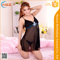 HSZ-632# Wholesale female sexy night dress sexy women lingere fashion design women sexy clothing black lingerie