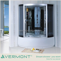 indoor computer controlled luxury tempered glass enclosed steam shower room