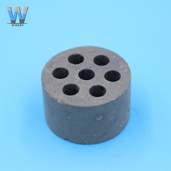 Seven holes cylindrical industrial application types of ceramic alumina catalysts