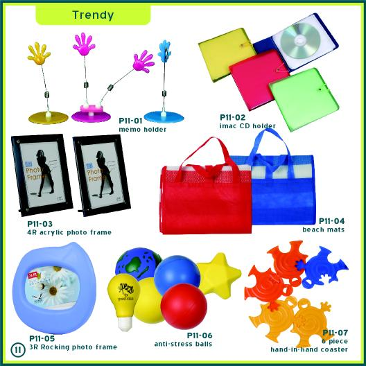 Corporate Gifts Singapore - Acrylic Photo Frame, Coaster, Stress Balls, Foldable Beach Mats, Memo Holder, CD Holder