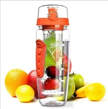 900ml BPA Free Fruit Infuser Juice Shaker Sports Lemon Water Bottle Tour hiking Portable Climbing Camp Bottles botella de agua