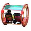 Amusement rdes 360 wheel rotating happy kids electric cars