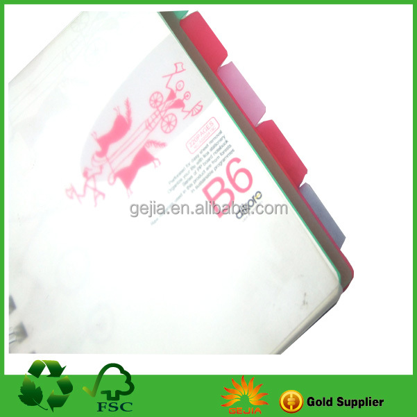 Spiral Wholesale Paper PVC Notebook