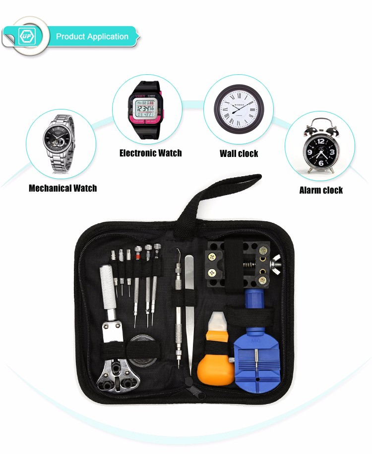 High Quality 13 pcs Portable Watch Repair Tools Kit Set,DIY Repair Watch Tool Kit