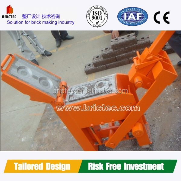 Manual interlocking hand press clay brick making machine