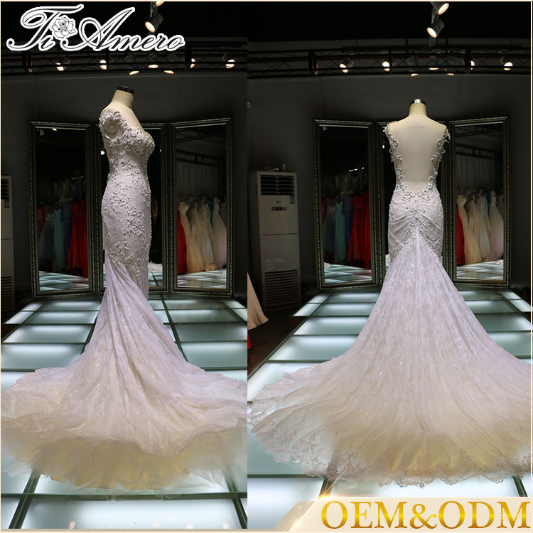 2016 evening party dinner cheap mermaid wedding dresses pictures