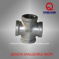 galvanized cast screw cross joint soil malleable iron pipe fitting