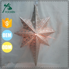 morrocan star christmas wed lantern in metal