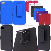 2 in 1 Cell Phone Case with Belt Clip for Blackberry Z10