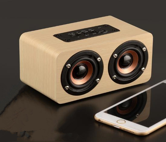 K-8 2017 New Wooden High-end Waterproof Wireless Stereo Bluetooth Speaker