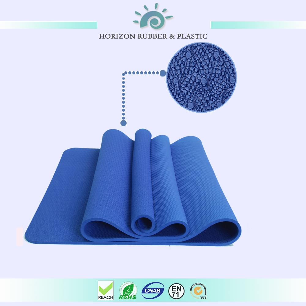 TPE Yoga mat black latex free 6mm,Pro fit yoga mat with laser engrave