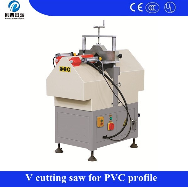 Vinyl window V notch cutting saw / V cutting saw machine