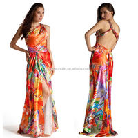 2014 womens one shoulder evening dress new design free pattern evening dress