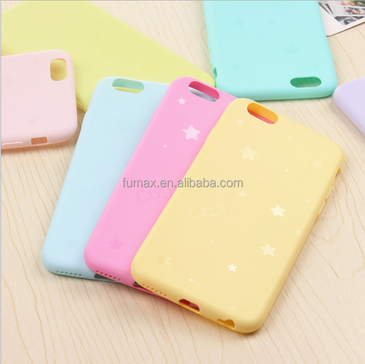fresh light weight candy color cute plastic case electronics for cell phone