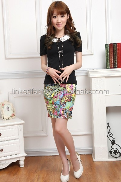 Wholesale Women Candy Color polyester women Short Mini Skirt