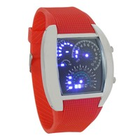 2016 hot sale aircraft cool max speed car blue light dot matrix men military digital led watch