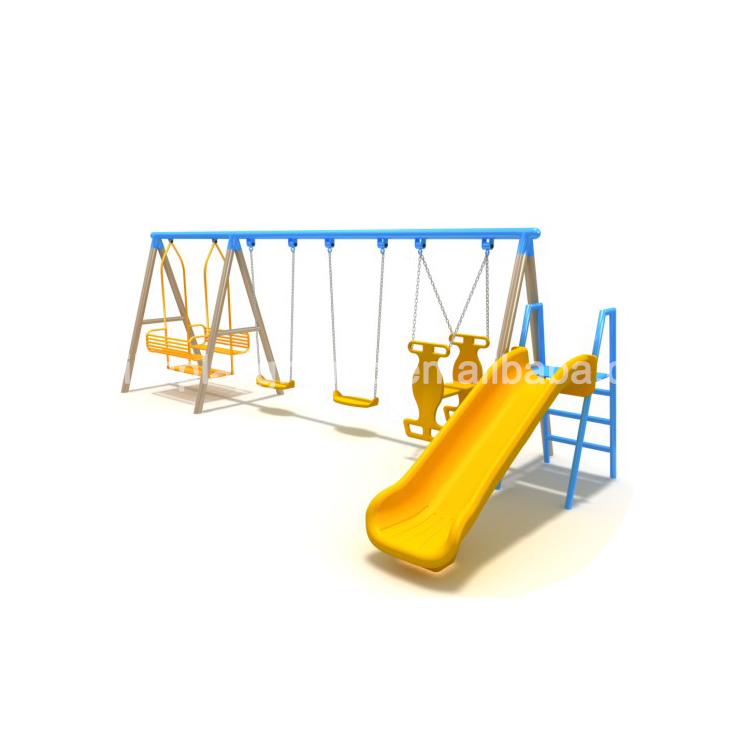 Kids plastic slide and swing Combination outdoor playground kids swing
