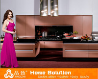 Prefabricated modern bar cabinet for home mdf kitchen cabinet lacquer finishing