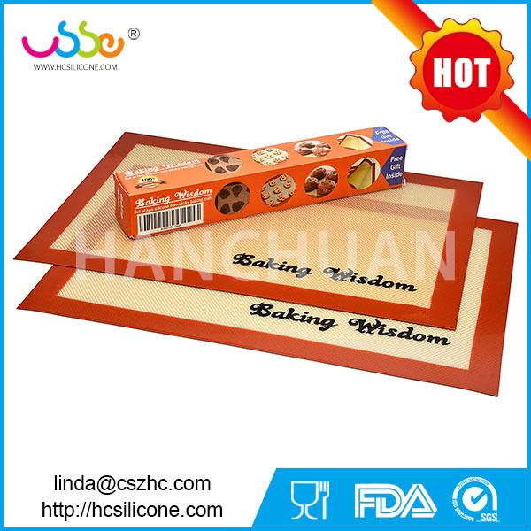Hanchuan silicone baking mat with private label, non-stick silicone baking mat ,silicone baking mat private label