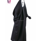 Ghost Cosplay Costume for Halloween Fancy No-Face Spirit Robe with Mask gloves