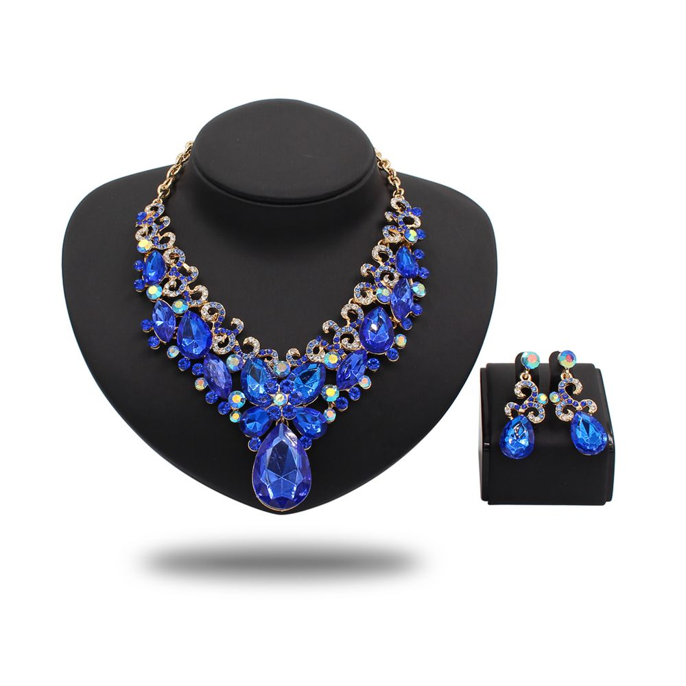 Wholesale Price Crystal Rhinestones Bridal Jewelry Set African Necklace Set