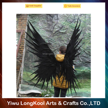 Wholesale party suppliers feather angel wings halloween cosplay adult black fairy wings