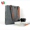 China online shop hot selling OEM felt clutch bag, super quality cheap felt hand bag with leather