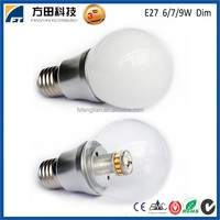 Alibaba high quality supplier Ra80 CE RoHS EMC LVD approved dimmable LED Bulb e14 e27 b22 6w 7w 9w