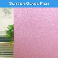 D005 Glitter Colored Window Decoration Stickers Glass Film