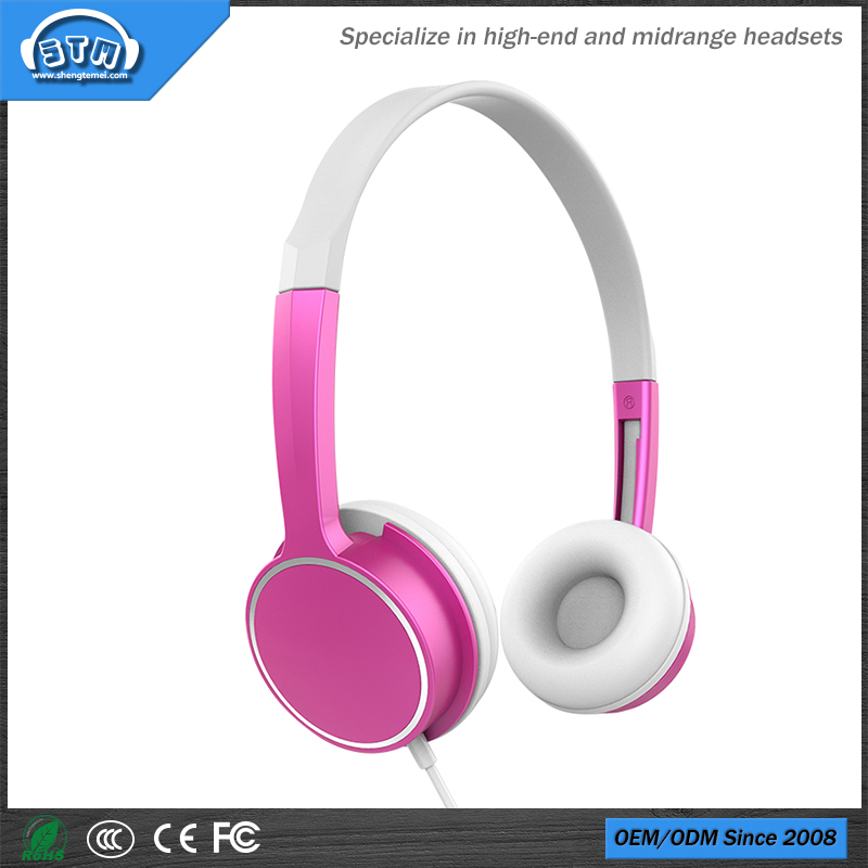 New style fashion design children headset for kids headphone with and wired headphone with mic