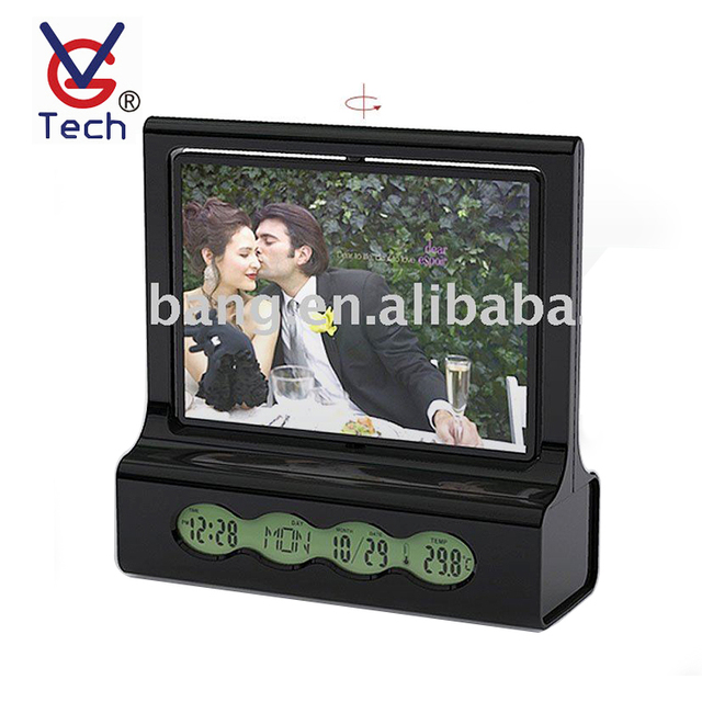 VGW-505 Music Enjoy Calendar Display LCD Clock With Photo Frame