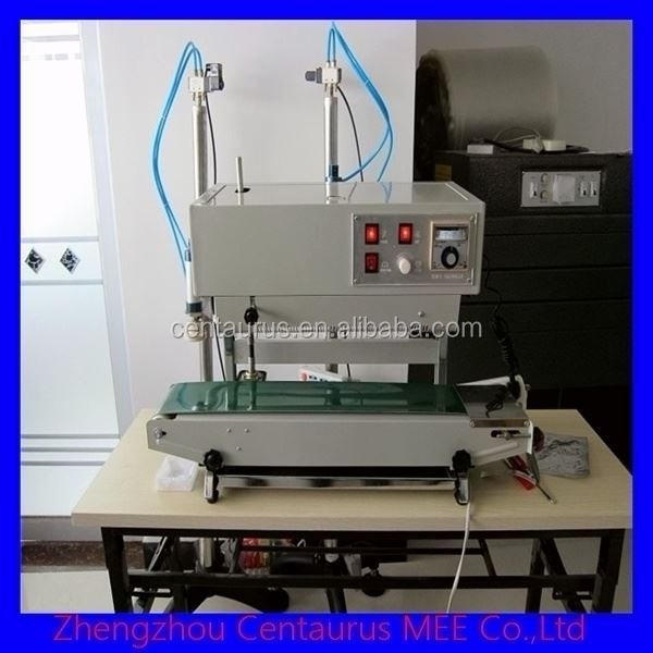 Fast heating start continuous band sealer with ink print with lowest price