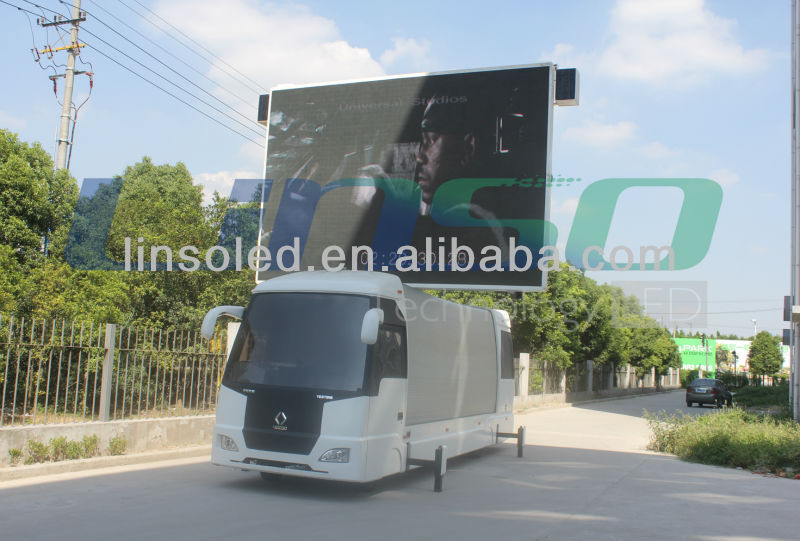 CE,SAA & RoHS Outdoor 15.36sqm P10mm/ P12mm Mobile LED Billboard Screen Display for live show & broadcast