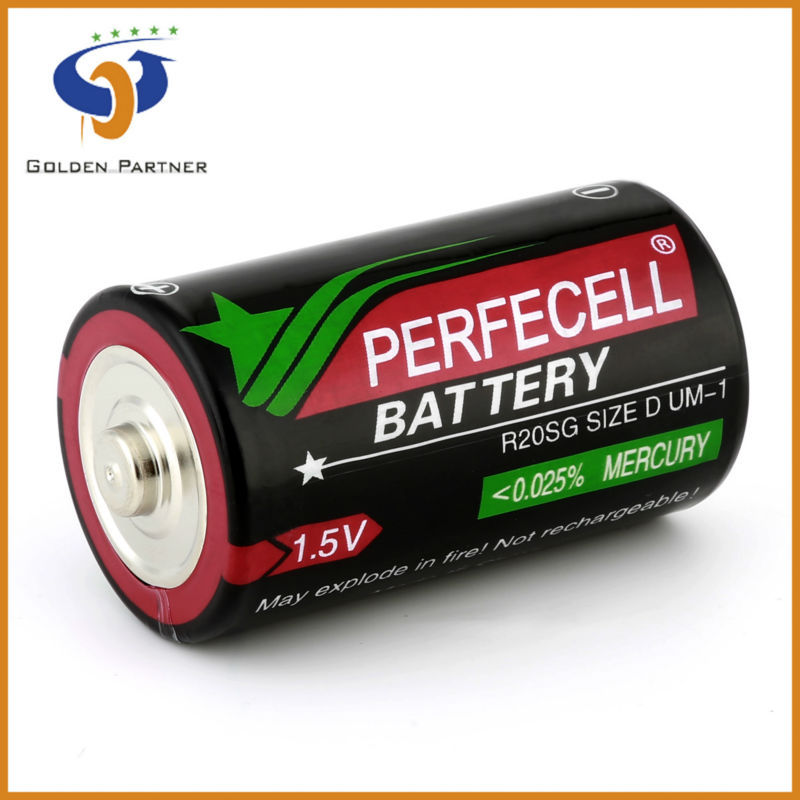 Good raw materials r20 um-1 d size 1.5v dry battery cell manufacturers
