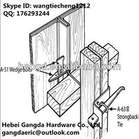 construction formwork accessories supply building material Z Tie Holder for steel plywood form system